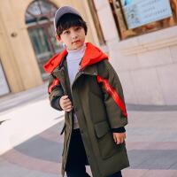儿童羽绒服男童中长款2018新款男孩童装外套加厚男大童反季