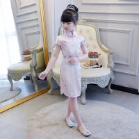 儿童旗袍裙中国风女童唐装宝宝公主裙连衣裙女孩古筝演出服装夏季