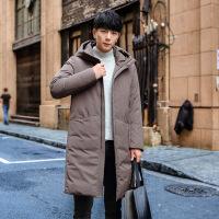 冬季羽绒服新款男士中长款韩版修身羽绒服90绒高品质羽绒服潮 图色