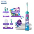 飞利浦(PHILIPS)电动牙刷HX6322/29高配版 蓝牙版Sonicare For充电式自动声波震动儿童牙刷 配原装收纳盒