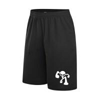 新品男篮球裤短裤运动科比欧文透气宽松大码训练黑色过膝五分裤 牛人 双拉链口袋手环