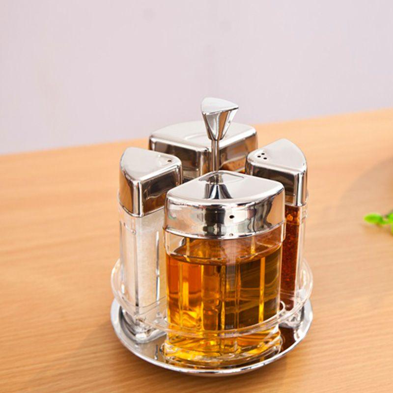 玻璃调味瓶调味瓶罐收纳架盐罐厨房用品调味罐套装 单套售价