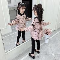 女童衬衫长袖2020春装新款韩版儿童春秋季上衣童装小女孩洋气衬衣