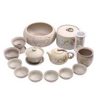 唐丰功夫茶具整套陶瓷泡茶器套装家用茶杯茶壶盖碗喝茶套装