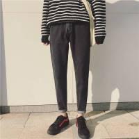 港风冬季潮流百搭男士牛仔裤韩版显瘦小脚裤帅气青年加厚加绒长裤