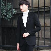 春秋季男士休闲西装韩版潮流修身小西服单西外套青年纯色男装便西 XX