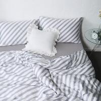 家纺60s夏季裸睡天丝印花四件套双面莱赛尔1.5m/1.8m床单被套床品套件