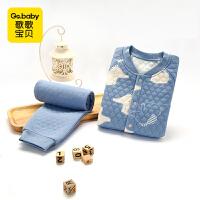 【秒杀】歌歌宝贝婴儿内衣套装秋冬宝宝0-3岁三层保暖内衣两件套