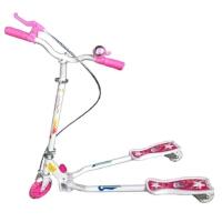 买送飘带全铁漂移儿童三轮蛙式滑板车