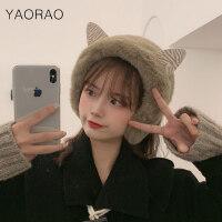 耳罩冬天冬季保暖耳套耳包女生护耳朵耳捂子防冻可爱耳朵韩版耳帽