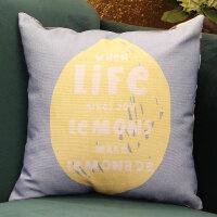新款创意亚麻风格抱枕棉麻北欧可爱汽车大套简约午睡沙发靠垫定制