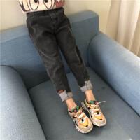 女童牛仔裤春秋2020新款儿童春款中大童韩版时髦宽松小脚裤子洋气