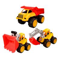 工程车玩具套装惯性车多功能工程车惯性回力车挖土机挖掘机