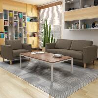 【品牌热卖】出租屋沙发布艺沙发小户型简约现代出租屋三人位家用办公室沙发茶几组合 尺寸颜色 单人位