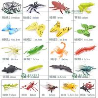 仿真实心蝴蝶蜻蜓蝎子草蜢七星瓢虫昆虫动物模型套装儿童玩具男孩 环保 实心昆虫系列 21款