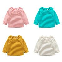 婴儿毛衣服针织纯棉外套0岁3个月1男6女宝宝春秋装秋冬装套头开衫