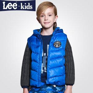 LEE童装 秋冬新款时尚男童羽绒服 时尚连帽中大童加厚外套