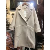 Q3新款韩版冬装呢子大衣女时尚加厚仿貂绒毛呢大衣中长款外套1.25