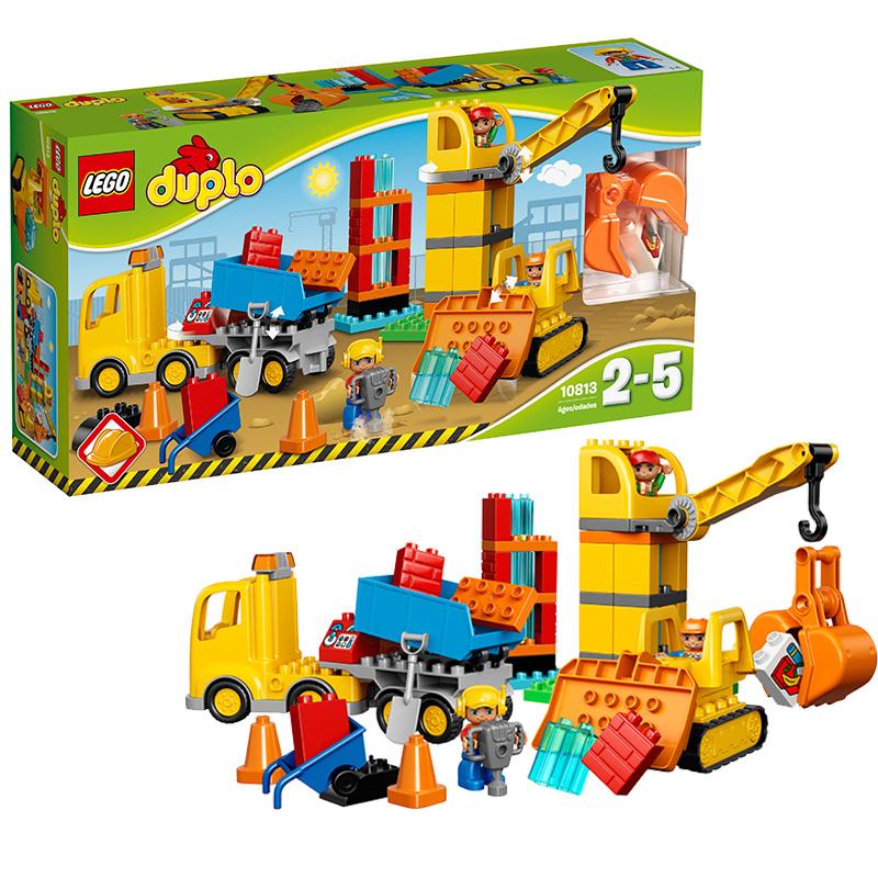[当当自营]LEGO 乐高 DUPLO得宝系列 大型建筑工地 积木拼插儿童益智玩具10813【当当自营】适合2-5岁,67pcs小颗粒积木