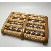 创意滚轮式腿部木质按摩穴位搓排木制送老人脚底按摩器足底按摩器