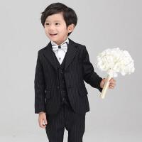 儿童礼服 男童西装套装条纹西服外套夏秋