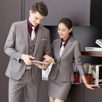 万卿职业套装女秋冬长袖西装正装男女同款售楼部处酒店银行工作