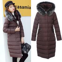 棉袄女新款冬季外套女士韩版冬装女中长款冬天大毛领棉衣