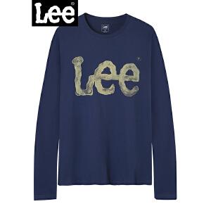 Lee男装 2018商场同款长袖LOGOT L296232LQ6QW
