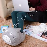 晚歌暖脚宝插电USB电热毯办公室笔记本电脑毛绒电暖脚鞋暖热取暖器可拆洗