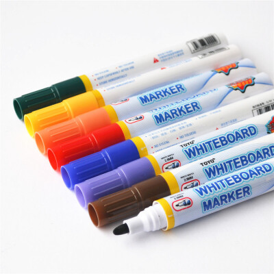 彩色白板笔可擦笔8色套装WB528儿童幼教笔粗白板笔彩色