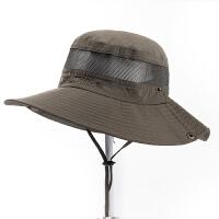 帽子男 钓鱼帽渔夫帽防晒遮阳春夏大沿大头围登山遮脸户外出游