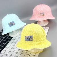 缕巷 新款婴儿帽春秋夏季太阳儿童薄款防晒遮阳渔夫遮阳婴童帽女宝宝帽子