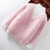 女童毛衣套头秋冬儿童打底衫高领