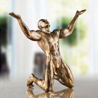 抽象人物呐喊雕塑艺术品办公室桌面摆件家居房间卧室复古装饰品 呐喊(仿古铜色)
