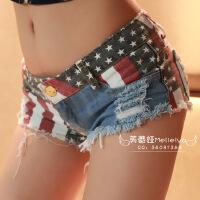 夜店女装性感美国牛仔超短裤夏显瘦低腰破洞毛边齐比小热裤潮