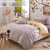 家纺纯棉床品三件套1.2米全棉床上用品套件1.5m床单被套 i6w