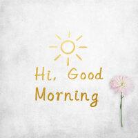 风格英文墙贴卧室客厅宿舍装饰拍照道具 Good morning 哑金色