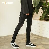 VIISHOW新款牛仔裤男 2018春季水洗牛仔长裤子男士休闲韩版小脚裤