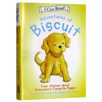 小饼干狗4个故事合集 英文原版绘本 Adventures of Biscuit 汪培�E书单 I Can Read系列 幼