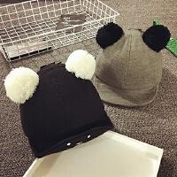 儿童鸭舌帽秋冬天加厚宝宝帽子1-2岁婴儿帽6-个月韩版保暖男女