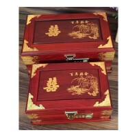 红酸枝实木首饰盒带锁时尚复古中国风中式化妆品木质简约家用结婚