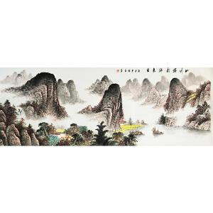 杨明玉《山川溢彩》著名国画家
