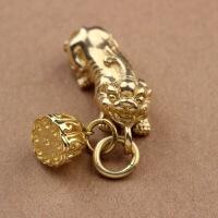 钥匙扣纯铜避邪挂件汽车男士腰挂圈创意礼品男生女生黄铜貔貅款工艺礼品