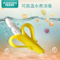 儿童摇铃玩具幼儿香蕉牙胶磨牙棒新生婴女宝宝3-6-12个月0-1岁