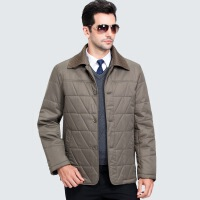 中年男士棉衣男装休闲翻领爸爸装棉袄冬季新款加厚中老年外套