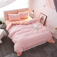 纯棉四件套北欧条纹床上用品1.8m2.0m双人床单被套1.5床笠款4件套 2.0m(6.6英尺)床 床单款