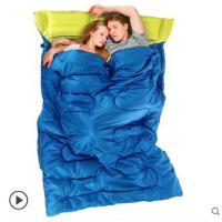 睡袋双色户外露营四季保暖室内午休便携成人睡袋情侣双人睡袋