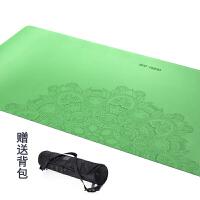 20180410063638965天然橡胶PU雕花瑜伽垫加宽加长防滑环保无味瑜珈健身土豪垫子