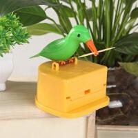 抖音同款小鸟牙签盒啄木鸟筒创意家用全自动弹出按压式网红牙签桶