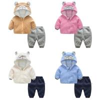 女婴儿衣服6个月男宝宝长袖洋气套装新生儿冬季装